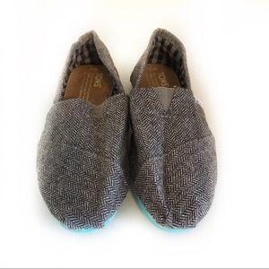 Toms Classics Teal Pop Herringbone Shoe